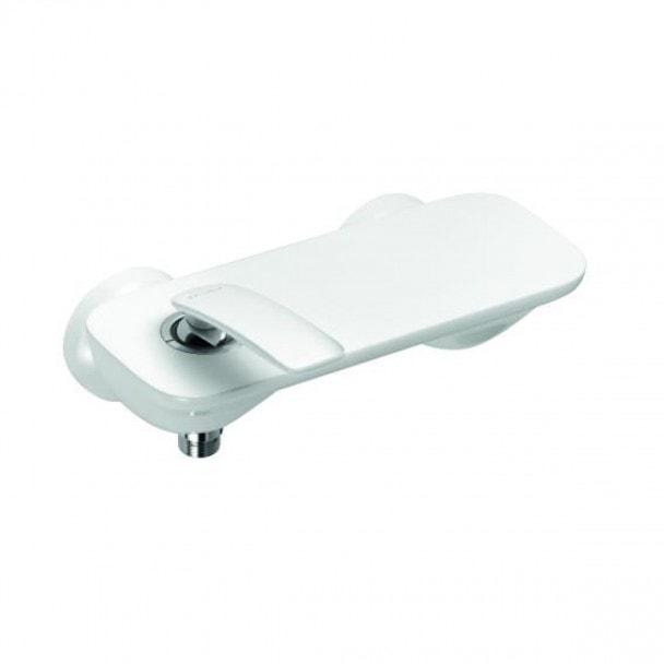 Jednouchwytowa bateria natryskowa Kludi Balance bez zestawu odpływowego, biały/chrom  527109175