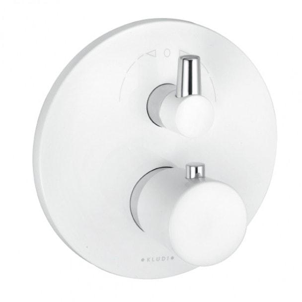 Podtynkowa bateria wannowo-natryskowa Kludi Balance z termostatem biały/chrom 528309175