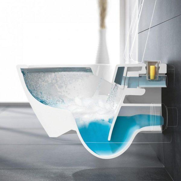 Zdjęcie Miska wc bezrantowa Villeroy & Boch Subway 2.0  z pojemnikiem na kostki fresh 37 x 56 cm Weiss Alpin 5614A101 + Deska WC wolnoopadająca 9M68S101