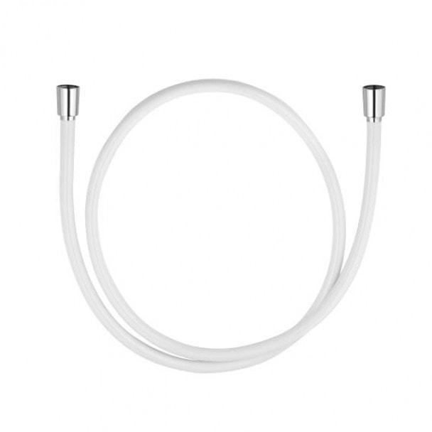 Wąż prysznicowy biały/chrom 1,25 m Kludi Suparaflex Silver 610719100