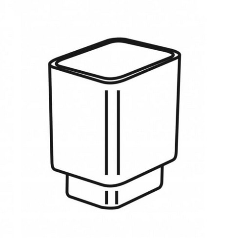 Pojemnik szklany do szczotki 02.431 Stella 80.049