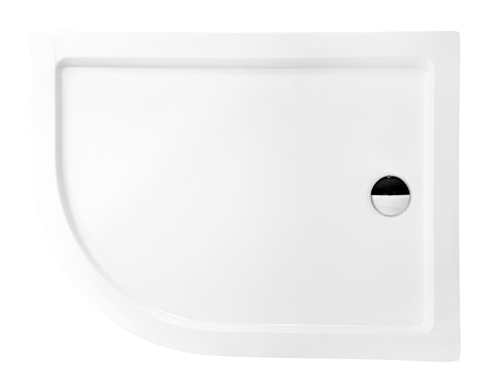 Zdjęcie Brodzik asymetryczny Besco Saturn 100P biały 100x80x4 BAS-100-NP