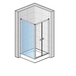 Zdjęcie MEGA WYPRZEDAŻ! Ścianka boczna Sanswiss Eco-Line 90cm ECOF09005007 @