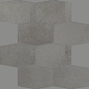 Mozaika ścienna cięta Paradyż Naturstone Grafit Hexagon Mix 28,6X23,3 cm M-C-286X233-1-NATE.GT-HMX