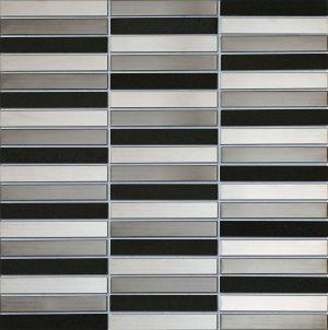 Mozaika ścienna Tubądzin Drops Metal Grey Stone 29,8x30,4cm MS-01-172-0298-0304-1-006