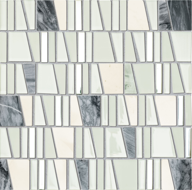 Mozaika ścienna Tubądzin Drops Stone White 30x30cm MS-01-172-0300-0300-1-001