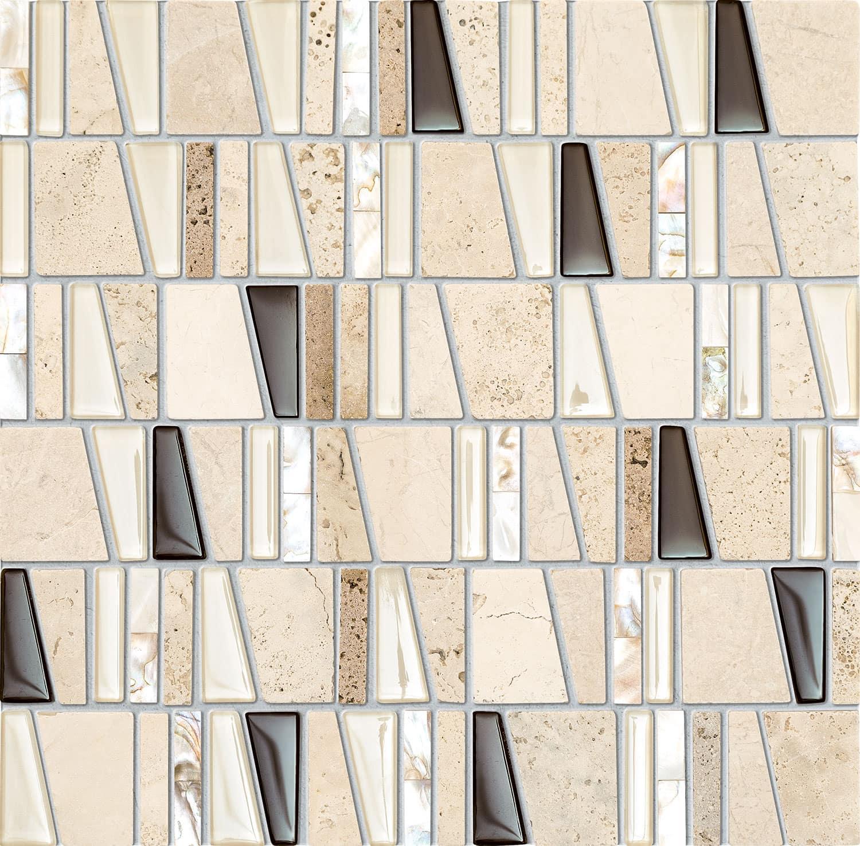 Mozaika ścienna Tubądzin Drops Stone Beige 30x30cm MS-01-172-0300-0300-1-003
