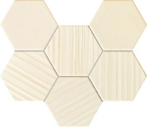 Mozaika ścienna Tubądzin Horizon hex ivory 28,9x22,1cm MS-01-202-0289-0221-1-008