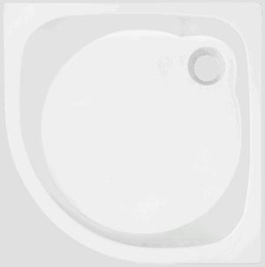 Brodzik półokrągły Atrium Brenta II 80cm QB2-80