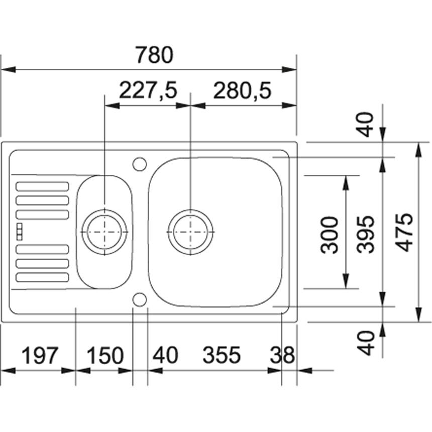 Zdjęcie Zlewozmywak wbudowywany Franke Euroform 651-78 101.0060.612