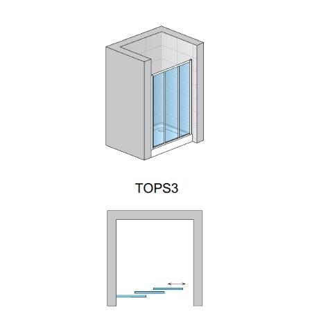 Zdjęcie Drzwi do wnęki Sanswiss Ronal TOP-LINE TOPS3 90cm TOPS309000122