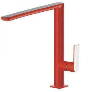 Bateria zlewozmywakowa Tres Loft colors czerwony 20044001RO