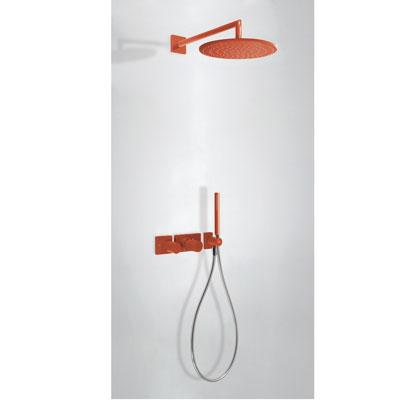 Zestaw natryskowy z baterią termostatyczną Tres Study colors czerwony 20735201TRO