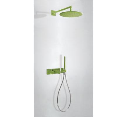 Zestaw natryskowy z baterią termostatyczną Tres Study colors zielony 20735201TVE