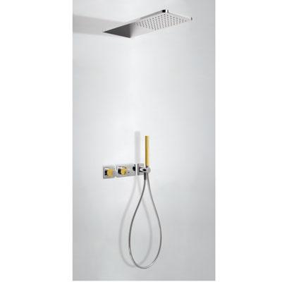 Zdjęcie Zestaw natryskowy z baterią termostatyczną Tres Loft colors bursztynowy 20735202AM