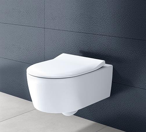 Zdjęcie Miska WC wisząca + deska Villeroy Boch Avento DirectFlush 5656RS01 + uszczelka wygłuszająca GRATIS