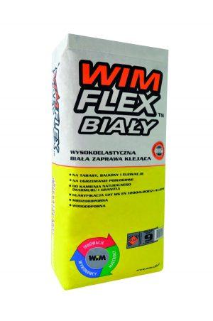 Wysokoelastyczna biała zaprawa klejąca do wszystkich płytek WIM Flex Biały 25kg