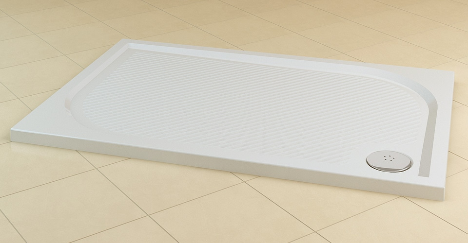 Brodzik konglomeratowy prostokątny SanSwiss Ronal Marblemate WMA 80x90cm WMA809004