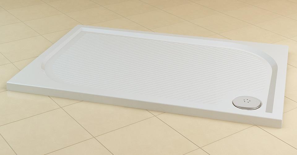 Brodzik konglomeratowy prostokątny SanSwiss Ronal Marblemate WMA 80x100 WMA8010004