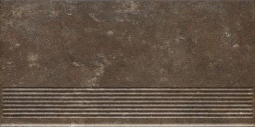 Stopnica Prosta Paradyż Ilario Brown 30X60cm Mat