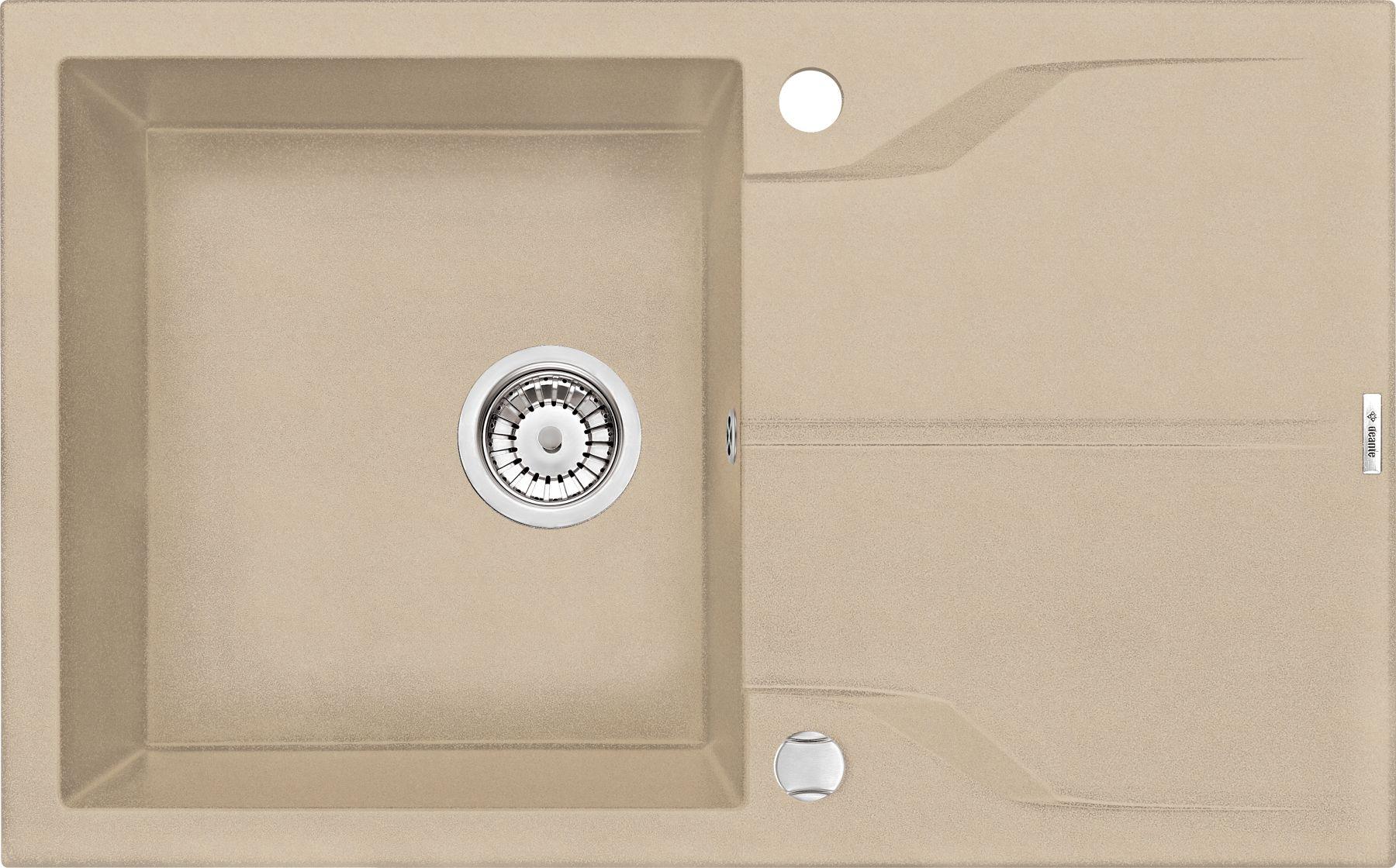 Zlewozmywak Deante Andante 1-komorowy z ociekaczem 78x49cm piaskowy ZQN7113