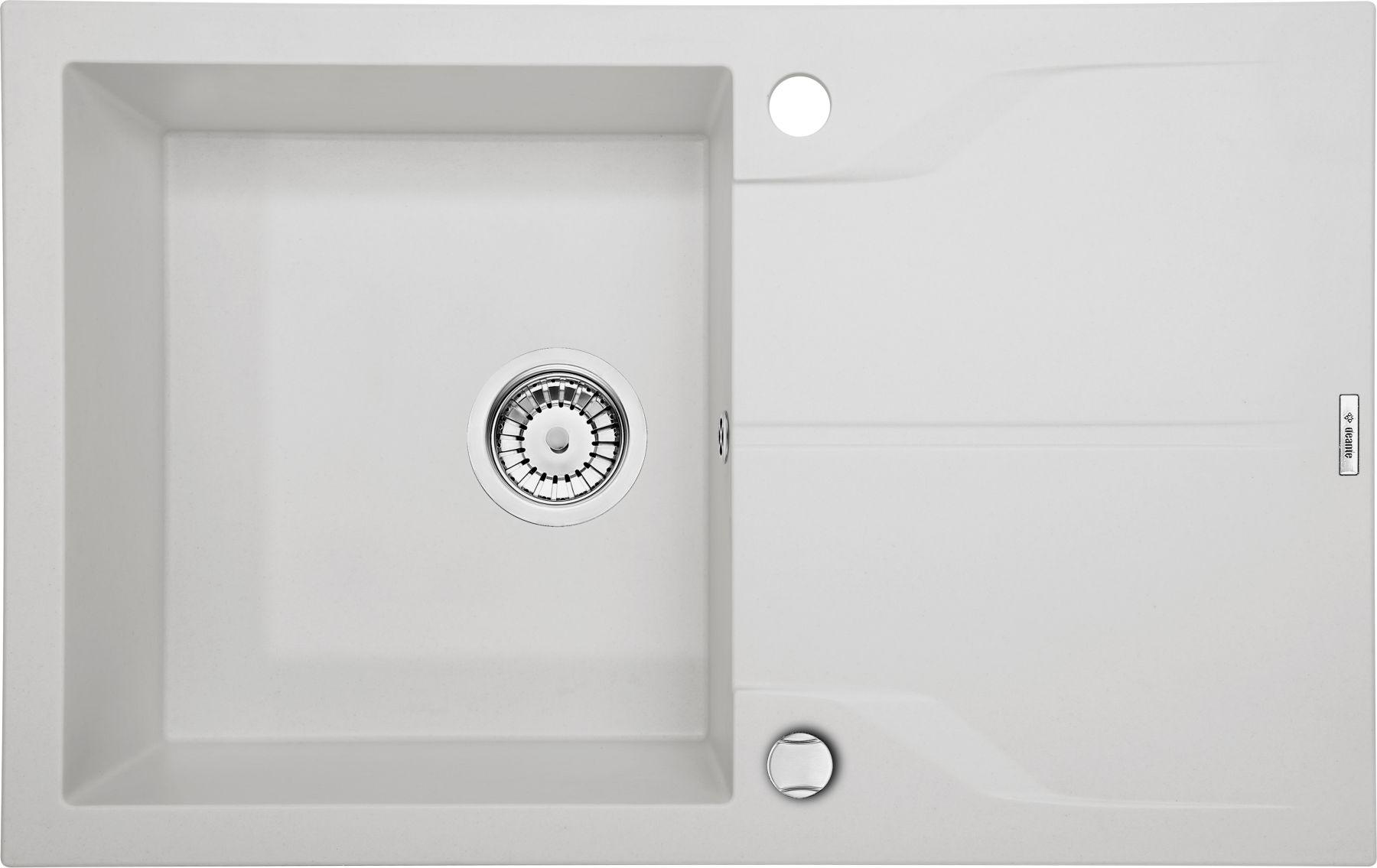 Zlewozmywak Deante Andante 1-komorowy z ociekaczem 78x49cm alabaster ZQNA113