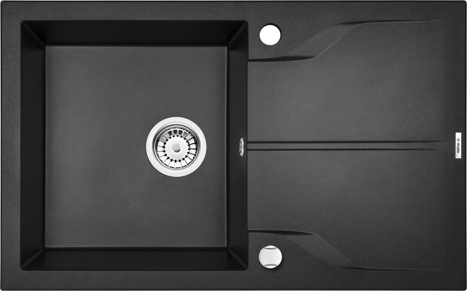 Zlewozmywak Deante Andante 1-komorowy z ociekaczem 78x49cm grafitowy metalik ZQNG113