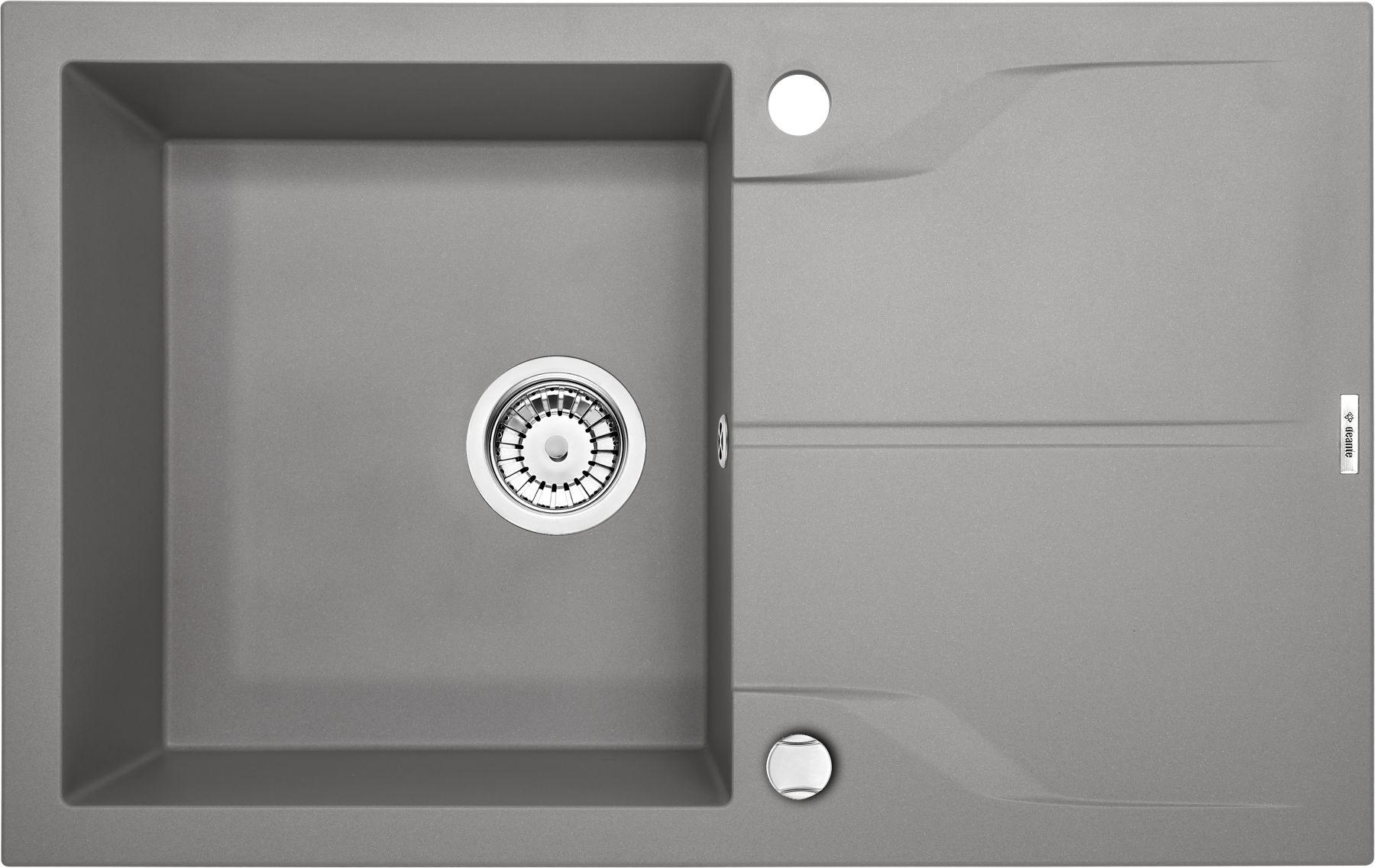 Zlewozmywak Deante Andante 1-komorowy z ociekaczem 78x49cm szary metalik ZQNS113