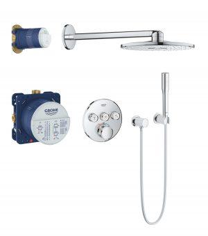 GROHE Grohtherm SmartControl - system natryskowy z podtynkową baterią termostatyczną 34705000 .