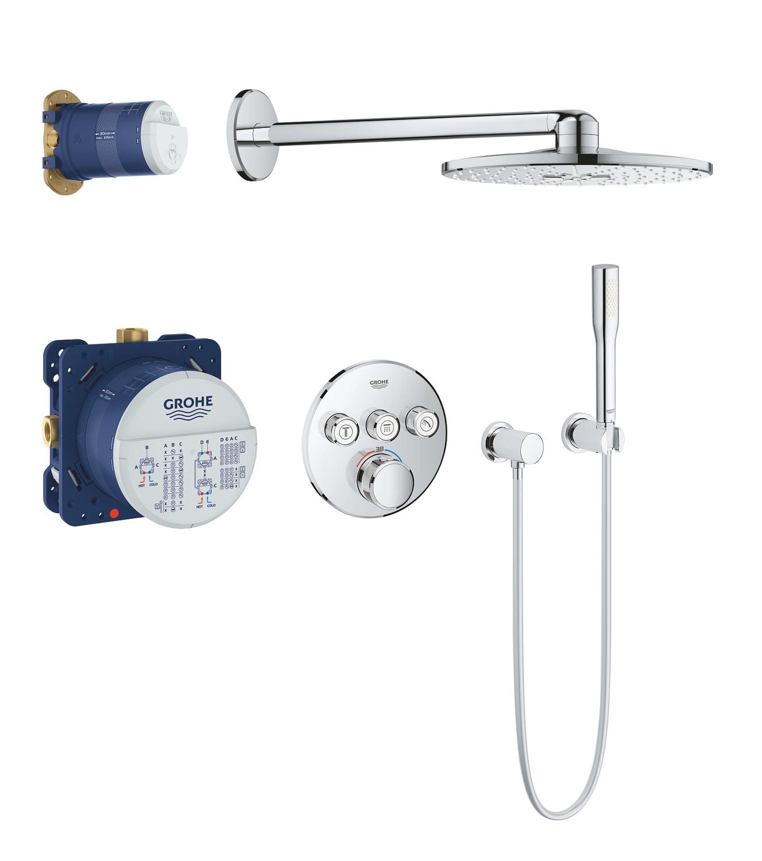 GROHE Grohtherm SmartControl - system natryskowy z podtynkową baterią termostatyczną 34705000