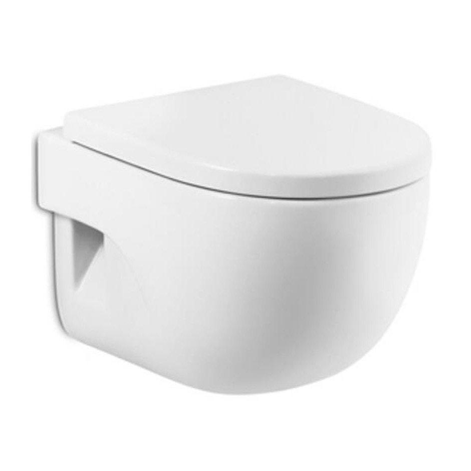 Miska WC Roca Meridian podwieszana Compacto + deska WC wolnoopadająca A346248000+A8012AC004