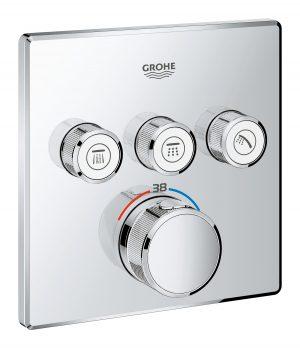 GROHE Grohtherm SmartControl - podtynkowa bateria termostatyczna do obsługi trzech wyjść wody 29126000 .