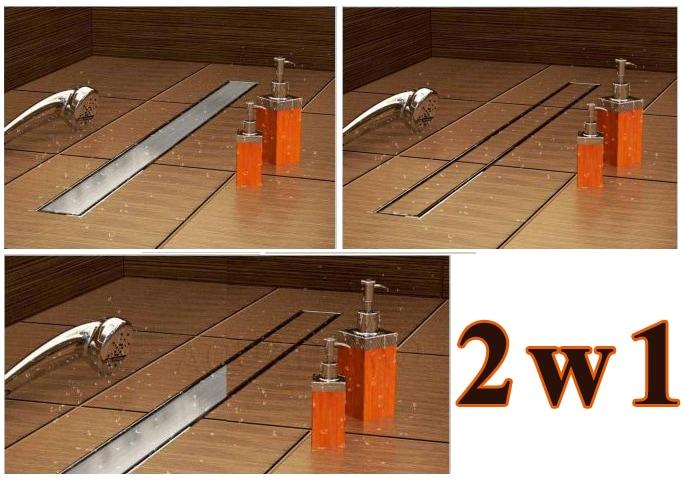 Odpływ liniowy Aquadomo 2-funkcyjny ze stali kwasoodpornej 80cm