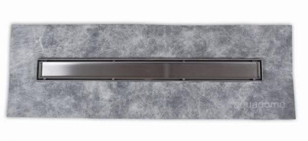Zdjęcie Odpływ liniowy Aquadomo Line ze stali nierdzewnej czarny mat 80 cm