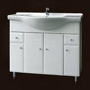 Szafka pod umywalkę z nóżkami z szufladami Defra Armando 92cm biała 001-D-09502