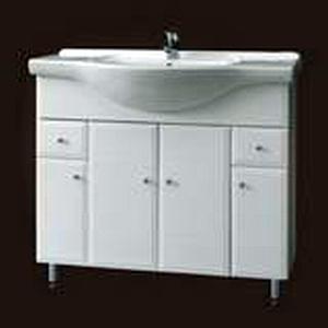 Szafka pod umywalkę z nóżkami z szufladami Defra Armando 102cm biała 001-D-10502