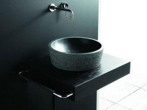 Umywalka kamienna nablatowa Bathco Bali Negro 00304