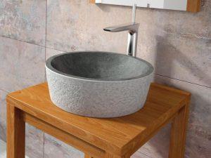 Umywalka kamienna nablatowa Bathco Dual Negro 00308