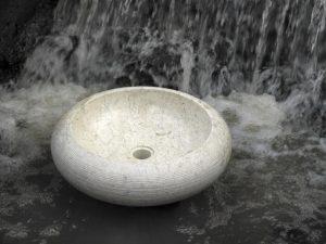 Umywalka kamienna nablatowa Bathco Fiji Beige 00316
