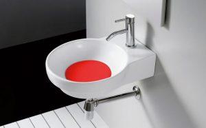 Przykrywka odpływu Bathco Marsella czerwona 4036PRJ