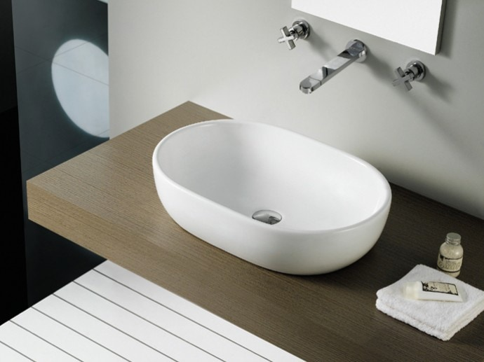 Umywalka nablatowa Bathco Toulouse 4037