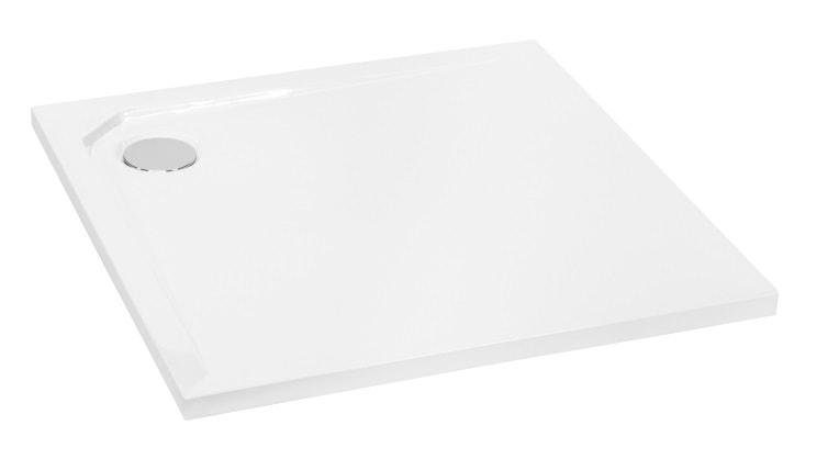 Brodzik kwadratowy Besco Acro  Ultraslim 90 biały 90x90x2 BMAC-90