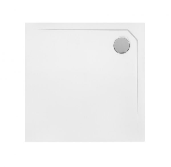 Zdjęcie Brodzik kwadratowy Besco Acro  Ultraslim 90 biały 90x90x2 BMAC-90