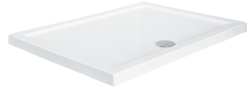 Brodzik prostokątny Besco Alpina 100 biały 100x80x3 BAA-108-P