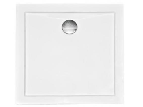 Zdjęcie Brodzik kwadratowy Besco Aquarius Slimline 90 biały 90x90x3 BAA-90-KW