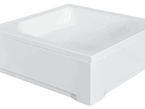 Brodzik kwadratowy Besco Ares 90 biały 90x90x15 BAA-90-KW