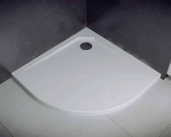 Zdjęcie Brodzik półokrągły Besco Asco Ultraslim 80 biały 80x80x2 BMAS-80