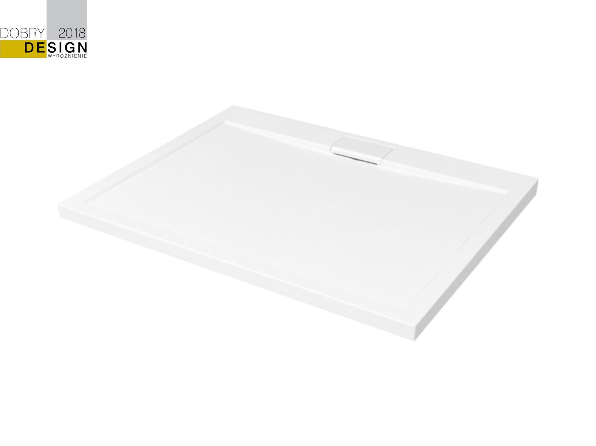 Brodzik prostokątny Besco Axim 120 biały 120x80x4.5 BAX-128-P
