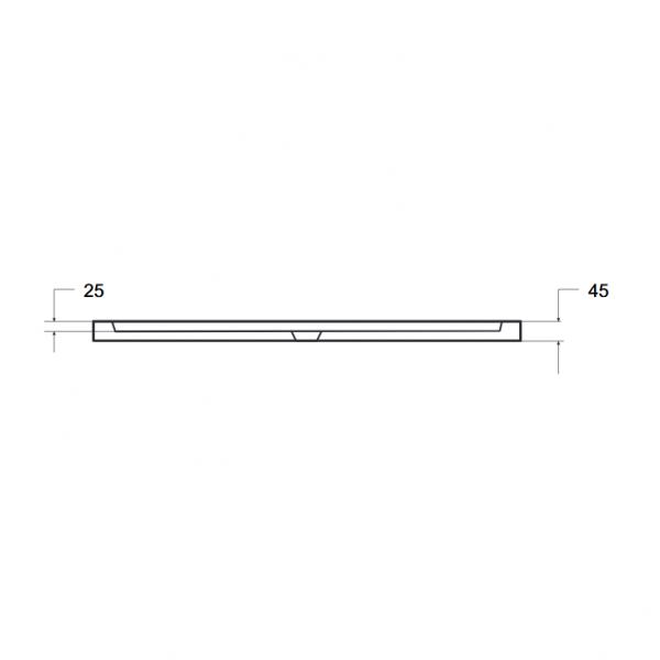Zdjęcie Brodzik prostokątny Besco Axim 120 biały 120x90x4.5 BAX-129-P