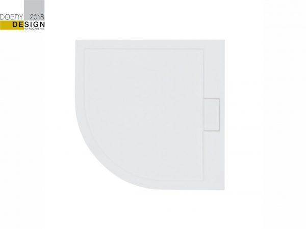 Zdjęcie Brodzik półokrągły Besco Axim Ultraslim Półokrągły 90 biały 90x90x4.5  BAX-90-NR